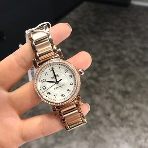 NWT Coach women Madison MD face watch rose gold